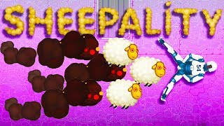 Hundreds Of Exploding Sheep Cause Death in Happy Room Dungeon - Sheepality