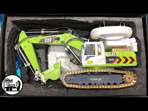 RC EXCAVATOR HYDRAULIC FULLY METAL UNBOXING || RC TOY REVIEW AND TESTED FIRST TIME GET DIRTY