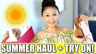 SUMMER HAUL + TRY ON! | Target, Honey Bum, Tory Burch, LeTote, Macy's, Trunk Club