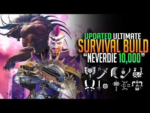 UPDATED Never Die 10,000! Ultimate Survival Build! Monster Hunter World Mixset