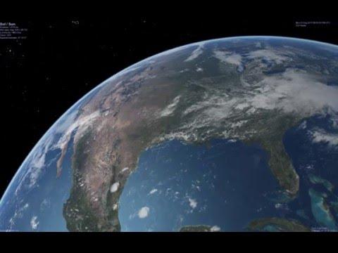 USA 2017 total solar eclipse simulation (Part 2/4)
