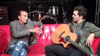 Andy Grammer with Glee's Principle Figgins