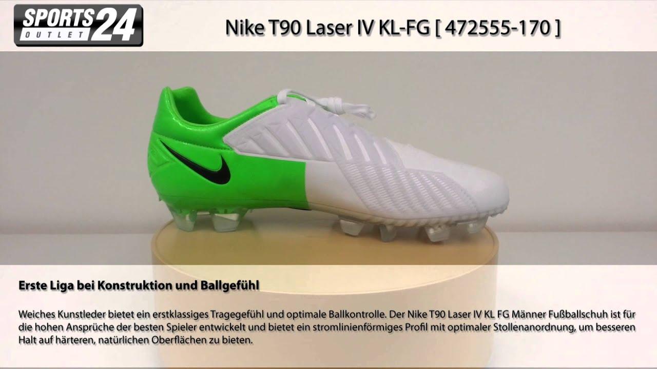 Nike T90 Laser IV KL-FG [ 472555-170 ] Nockenschuhe grün weiss