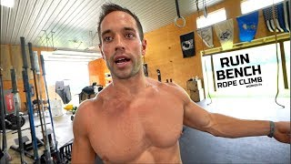 Rich Froning Full Day of Training - PART 1: AM Run and Bench Workout