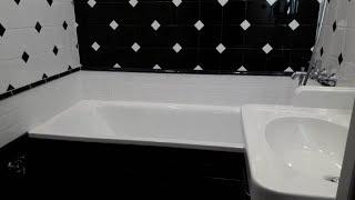 Как будет смотреться ванная с чёрной плиткой