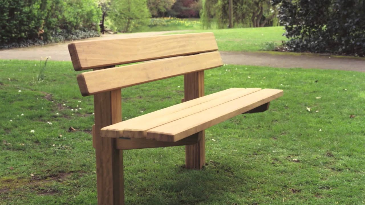 The Staxton wooden bench - YouTube