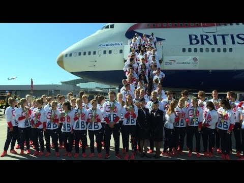 British Olympians return home from Rio with 67 medals