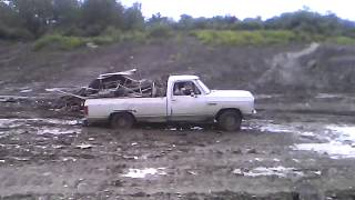 truck sunk in the mud while we was loading it