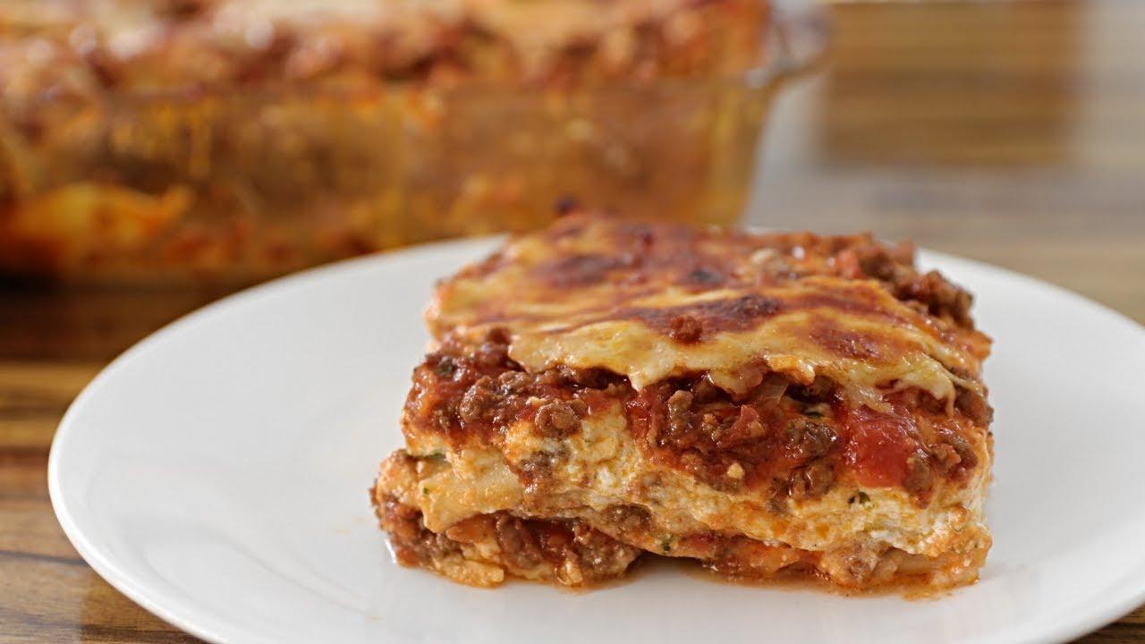 Lasagna Recipe | How to Make Beef & Cheese Lasagna - YouTube