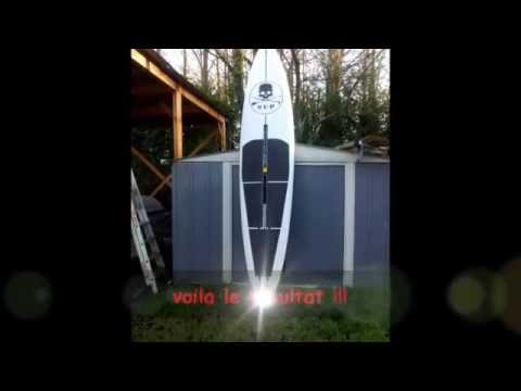 transformer une planche a voile en stand up paddle youtube