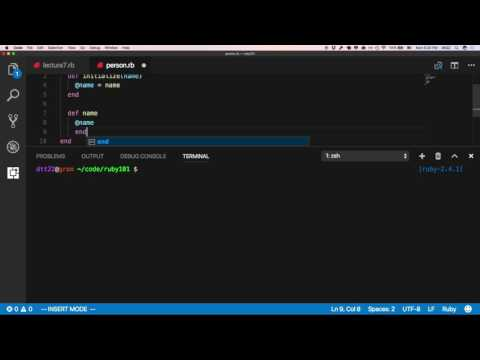 CS101 Ruby - Session 7 Part 1 - Ruby via VS Code + Terminal