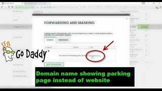 godaddy   domain name showing parking page instead of website