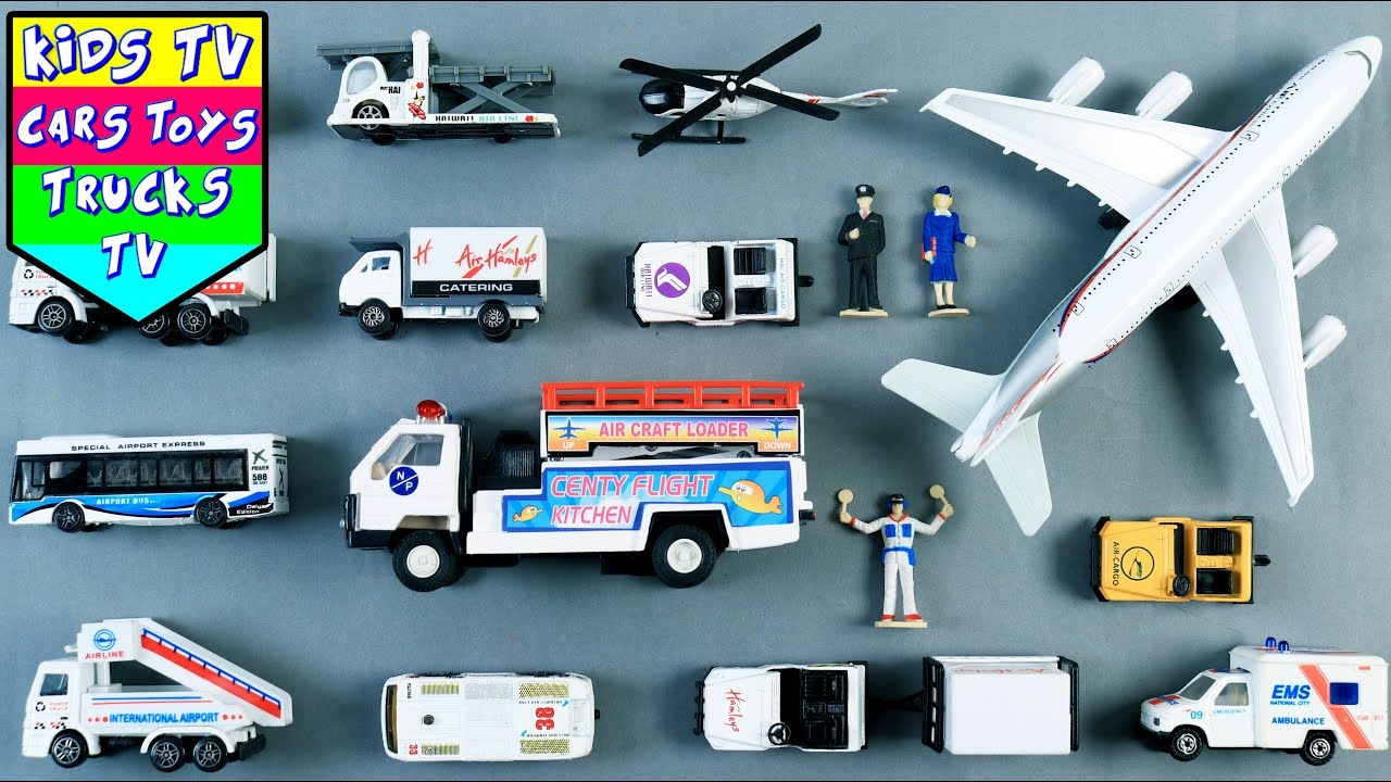 Learn Airport Vehicles For Kids Children Babies Toddlers | Airport ...
