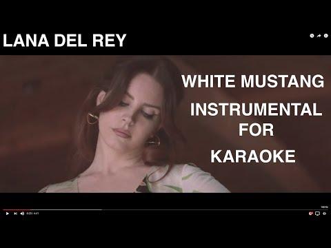 Lana Del Rey *White Mustang* Instrumental for Karaoke