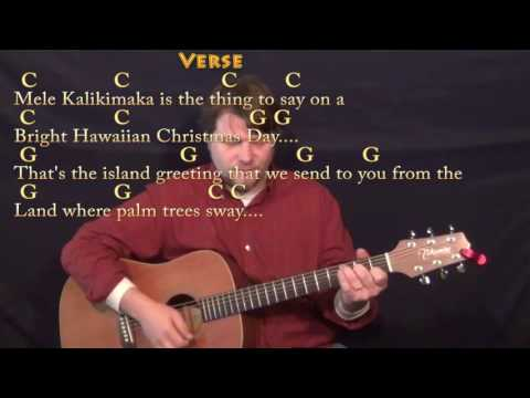 Mele Kalikimaka (Christmas) Strum Guitar Cover Lesson in C with Chords/Lyrics