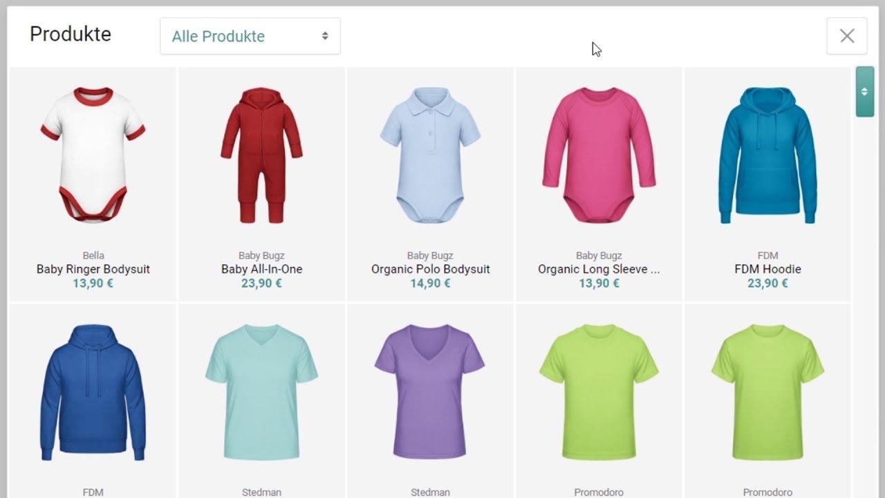 farblich passend harmonische Farben moderate Kosten T-Shirt selbst gestalten - alle VIDEO Anleitungen zum online ...