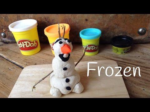 Figuras de plastilina para niños, cómo hacer a Olaf de la película Frozen