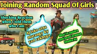 JOINING RANDOM SQUAD OF GIRL'S LIKE A BOT | Zalmi gaming | Best REACTIONS | Zalmi gaming