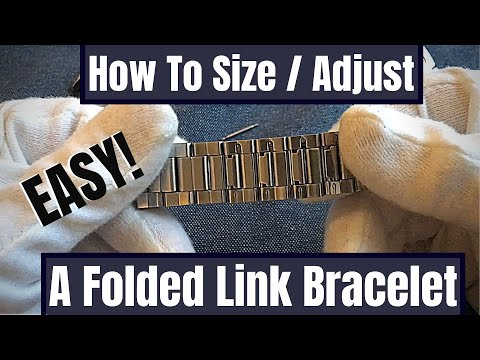 How To Size / Adjust A Folded Link Bracelet, On A SEIKO 5