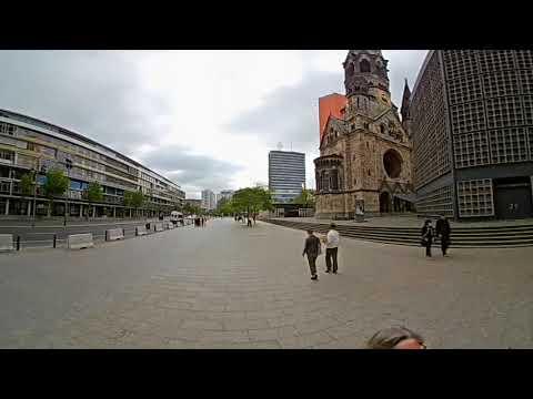 Berlin: Am Kurfürstendamm Breitscheidplatz Gedächtniskirche in 360°