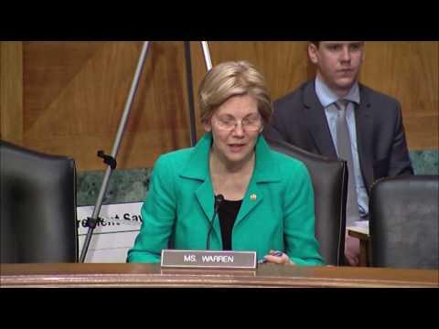 Senator Elizabeth Warren Asks About Expanding Social Security Survivors Benefits