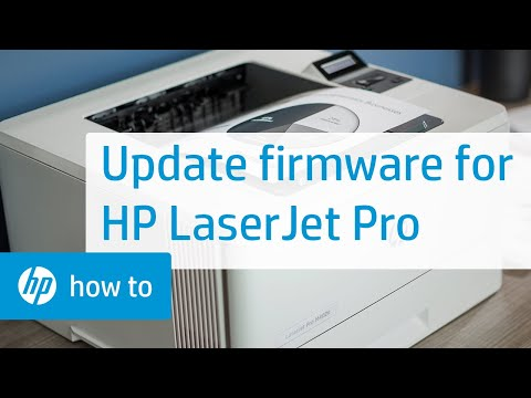 Updating the Firmware on HP LaserJet Pro Printers | HP LaserJet | HP