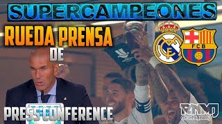 RUEDA DE PRENSA ZIDANE Real Madrid 2-0 Barcelona FINAL SUPERCOPA ESPAÑA 2017