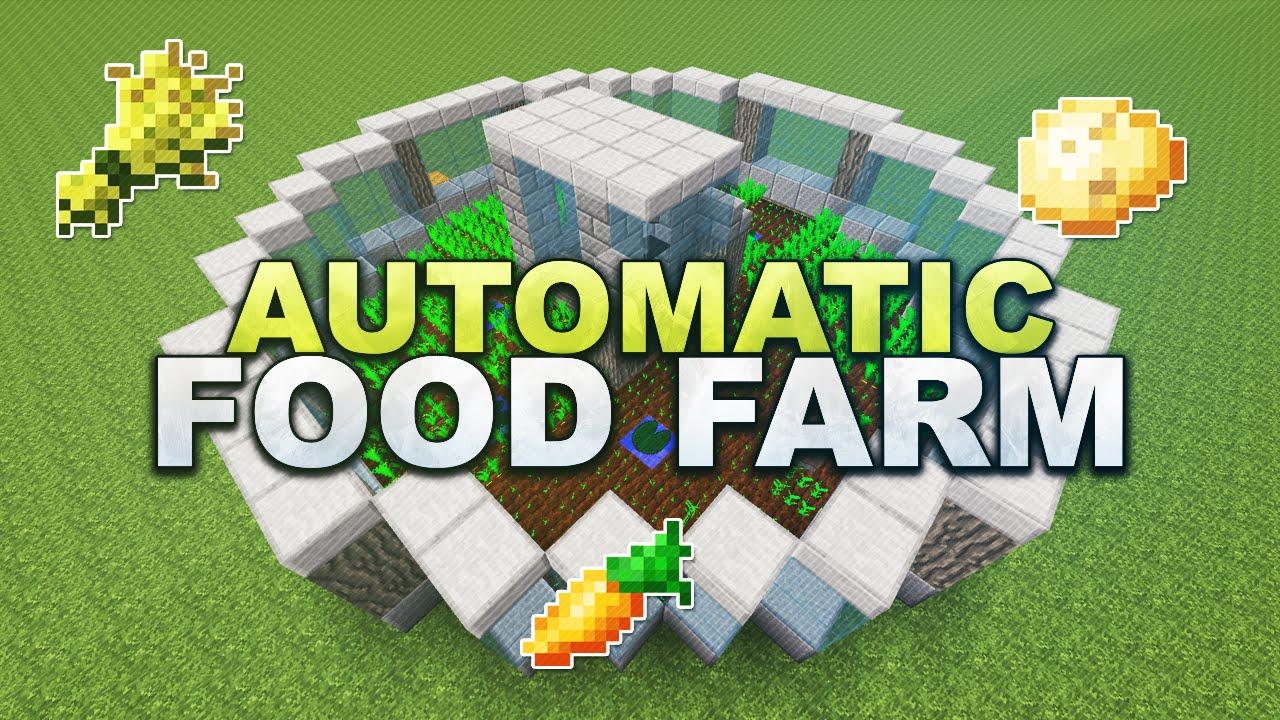 Minecraft Fully Automatic Carrot Wheat Potato Farm Tutorial - Minecraft dorfbewohner bauen hauser mod