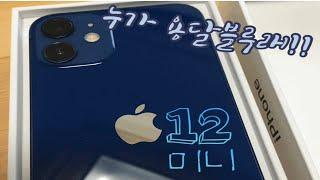 !!!누가 용달블루래!!! 아이폰12미니 블루 존예 뿜…