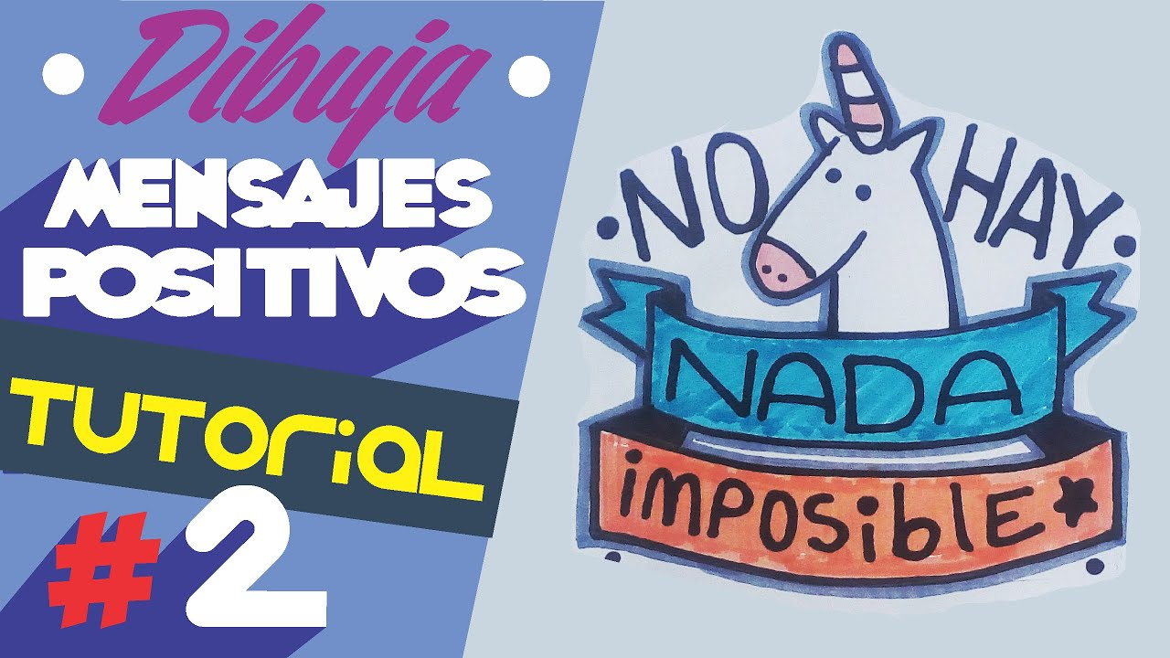 Dibujos De Amor Imagenes Con Frases: COMO DIBUJAR FRASES POSITIVAS