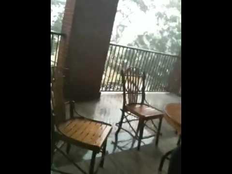 Tropical storm slams Fort McNair!