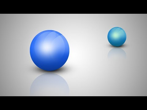 How to create a 3d glass ball in Photoshop - Photoshop tutorial thumbnail