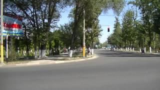 Тараз(Джамбул) Видеопанорама: Коммун-кая - Жданова (у бывш. кин-тра Ч. Валиханова, кафе Шолпан)