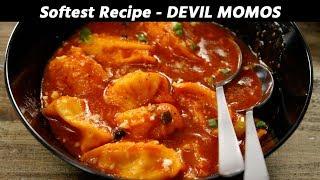 Devil Momos Recipe - Softest Kalsang Style Chilli Gravy Momo CookingShooking