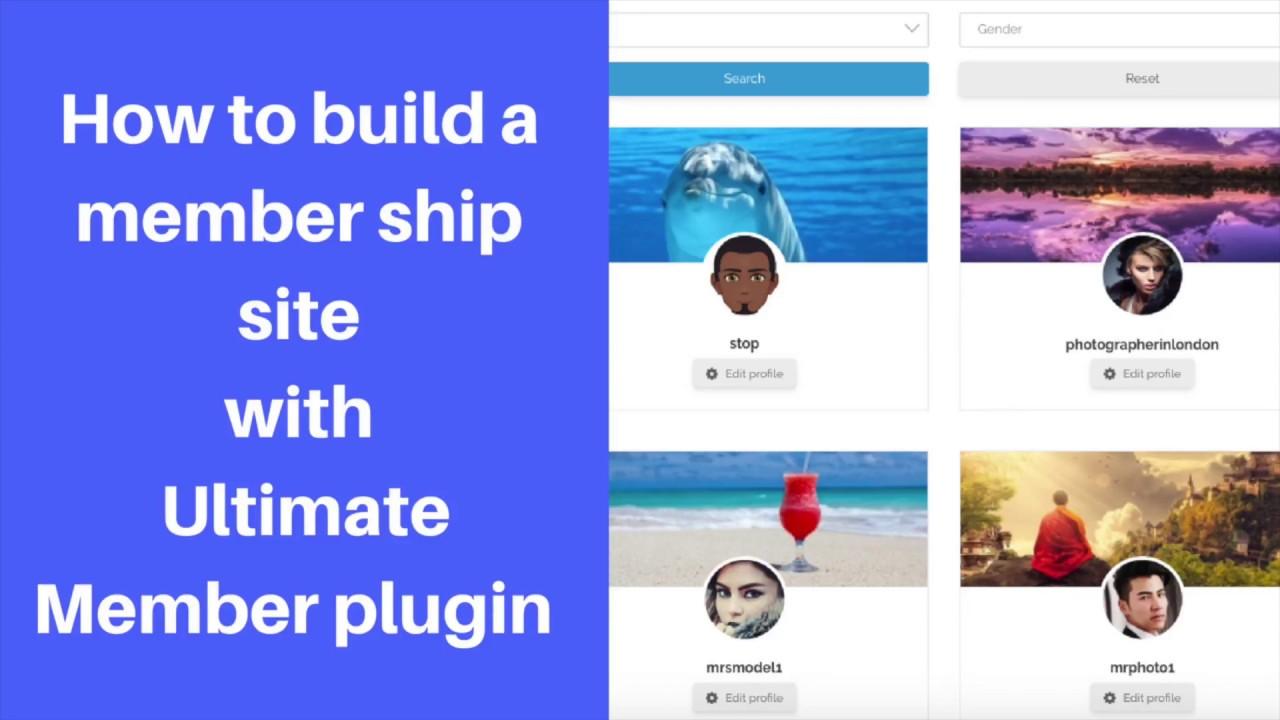 Ultimate member plugin tutorial : How to build member sites using ultimate  member  #ultimatemember