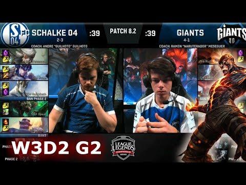 FC Schalke 04 vs Giants | Week 3 Day 2 of S8 EU LCS Spring 2018 | S04 vs GIA W3D2 G2