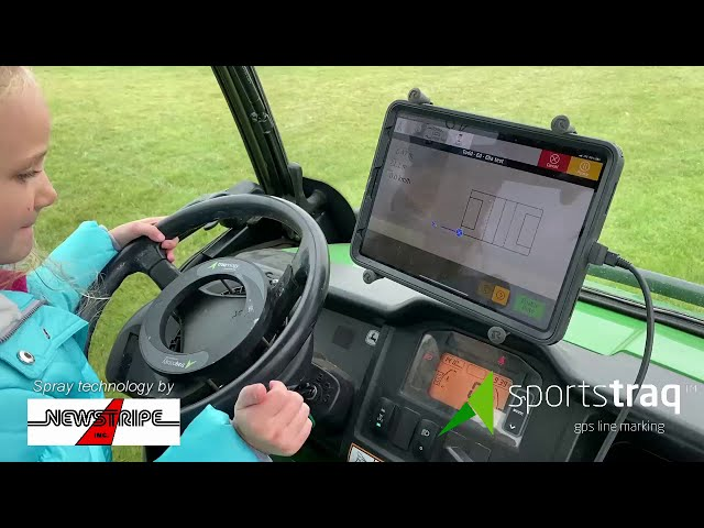 Striping a line with LineRider GPS+ - So easy a child can do it!