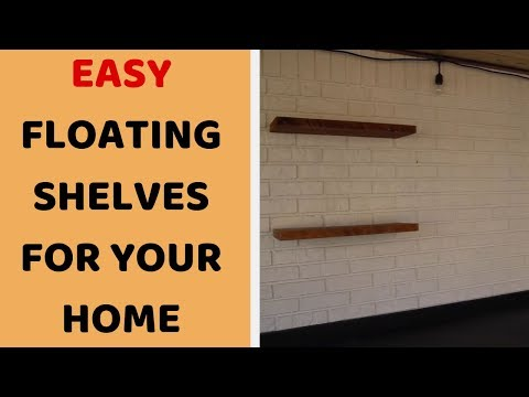 DIY Room Decor Easy - Woodworking Floating Shelves (Beginner Friendly)