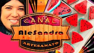 04# Sabonete Artesanal - Fatia de Melancia [Nível Fácil] lembrancinha