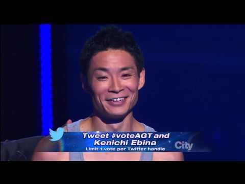Kenichi Ebina 蛯名健一 in America's Got Talent 2013 Semi Finals   Fighting Himself!!!