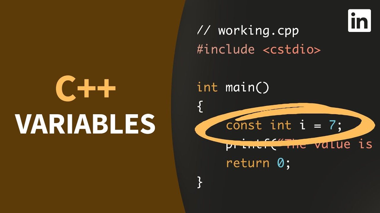 C++ Tutorial - Define and initialize VARIABLES