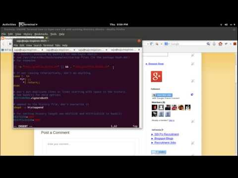 GNOME Terminal How to Open new tab with working directory Ubuntu