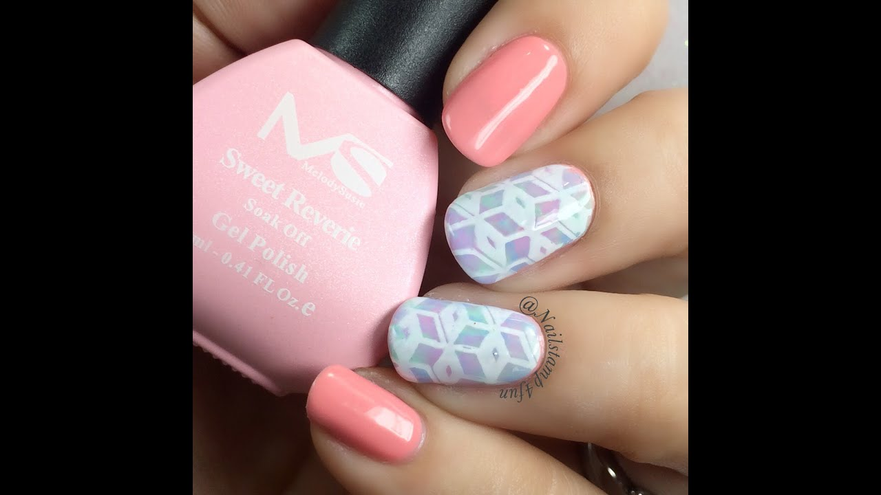 How To Geometry Gel Nail Art Tutorial Youtube