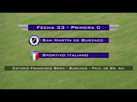 Fecha 33: San Martín de Burzaco vs Sportivo Italiano - EN VIVO