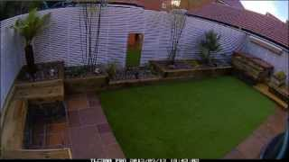 Landscaping a contemporary designed Garden time lapse.