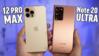 iPhone 12 Pro Max vs Note 20 Ultra - Full Comparison!