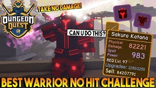 MIGLIORE WARRIOR LOADOUT NO HIT CHALLENGE IN SAMURAI PALACE dungeon QUEST ROBLOX