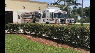 Boca Raton Fire Rescue NEW Ladder 5 Leaving Station