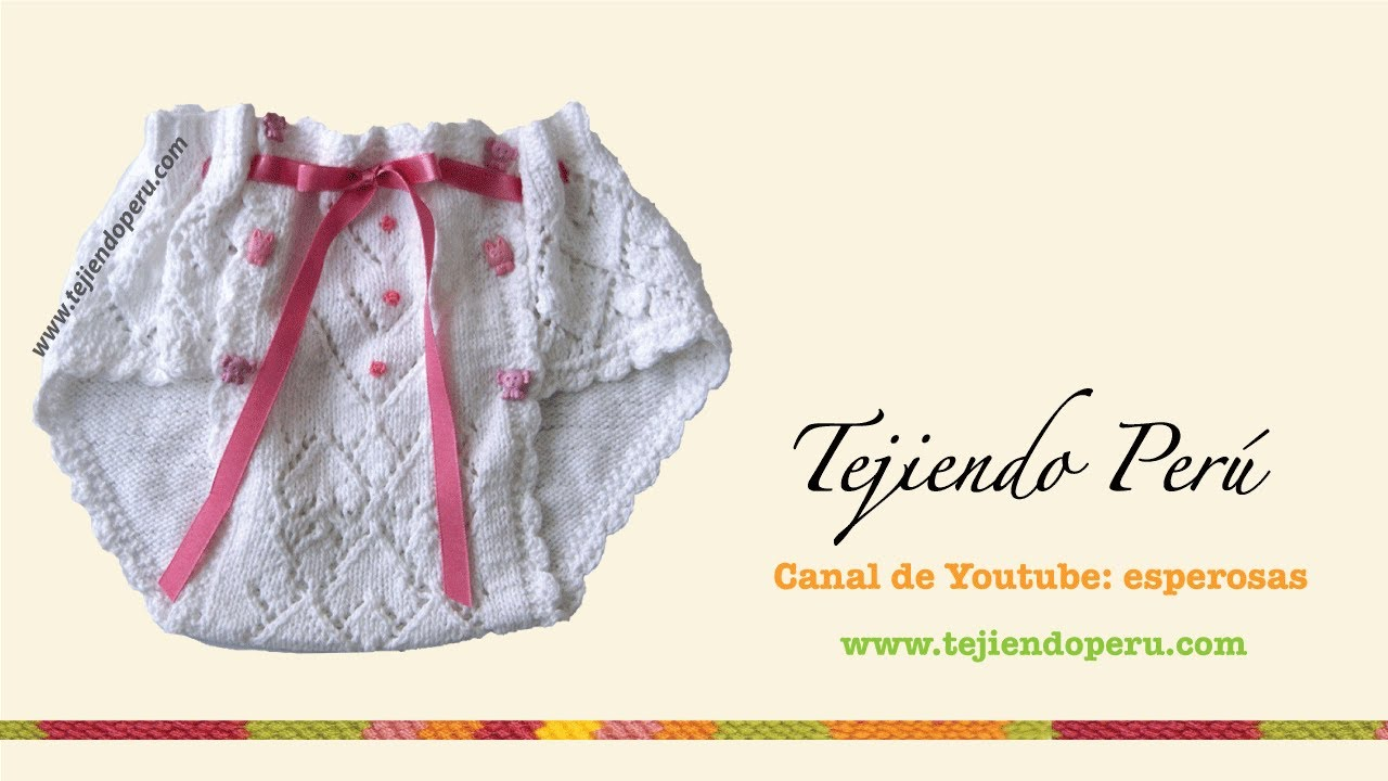 Dos agujas: cómo tejer un calzoncito para niña (Parte 1) - YouTube