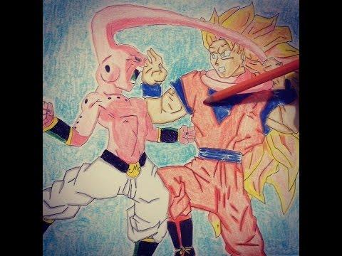 Speed Drawing Goku Vs Madimbu Dbz Sem Musica Youtube